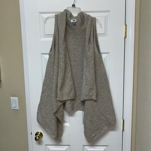 NWOT old navy open front knitted long cardigan